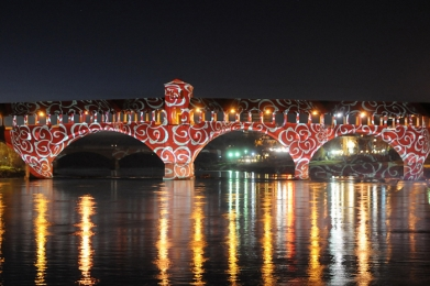 Hotel Pavia Natale il Ponte di Pavia illuminarie Natale